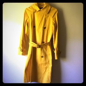 London Fog mid calf yellow  trench coat.